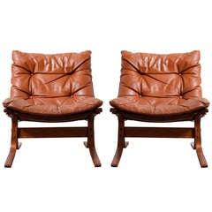 """Pair of Westnofa Leather """"Siesta"""" Easy Chairs"""