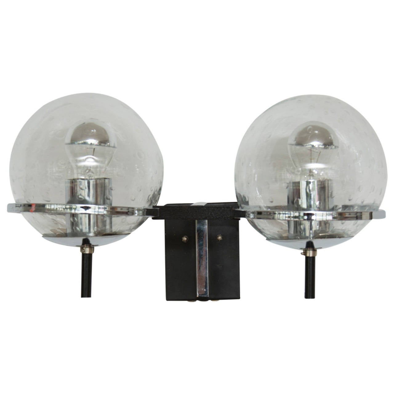 Pair of RAAK Double Globe Wall Lights For Sale at 1stdibs