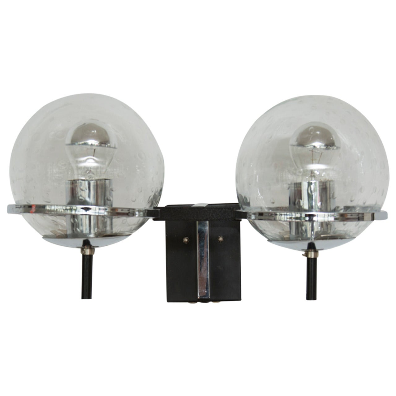 Pair of RAAK Double Globe Wall Lights