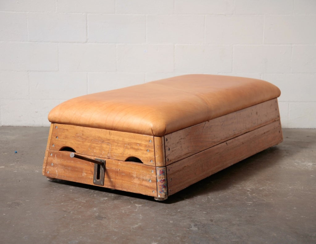 Vintage Leather Gymnastic Bench Or Coffee Table At 1stdibs