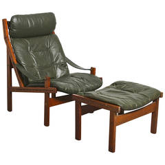 Westnofa (Attributed) Lounge Chair and Ottoman