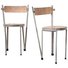Pair Of Industrialist Prototype Chairs