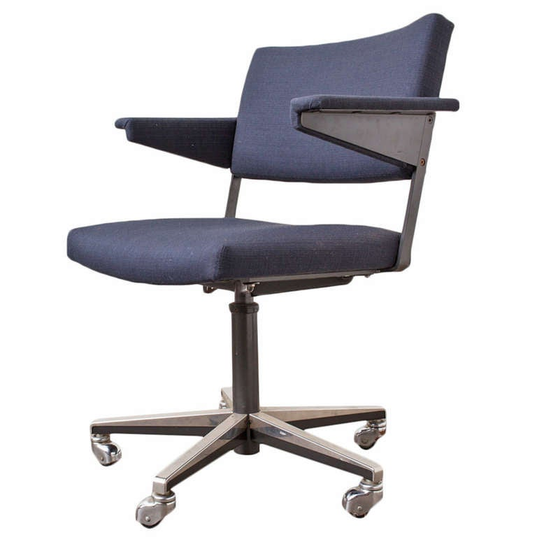 gispen rolling office chair by a r cordemeijer at 1stdibs