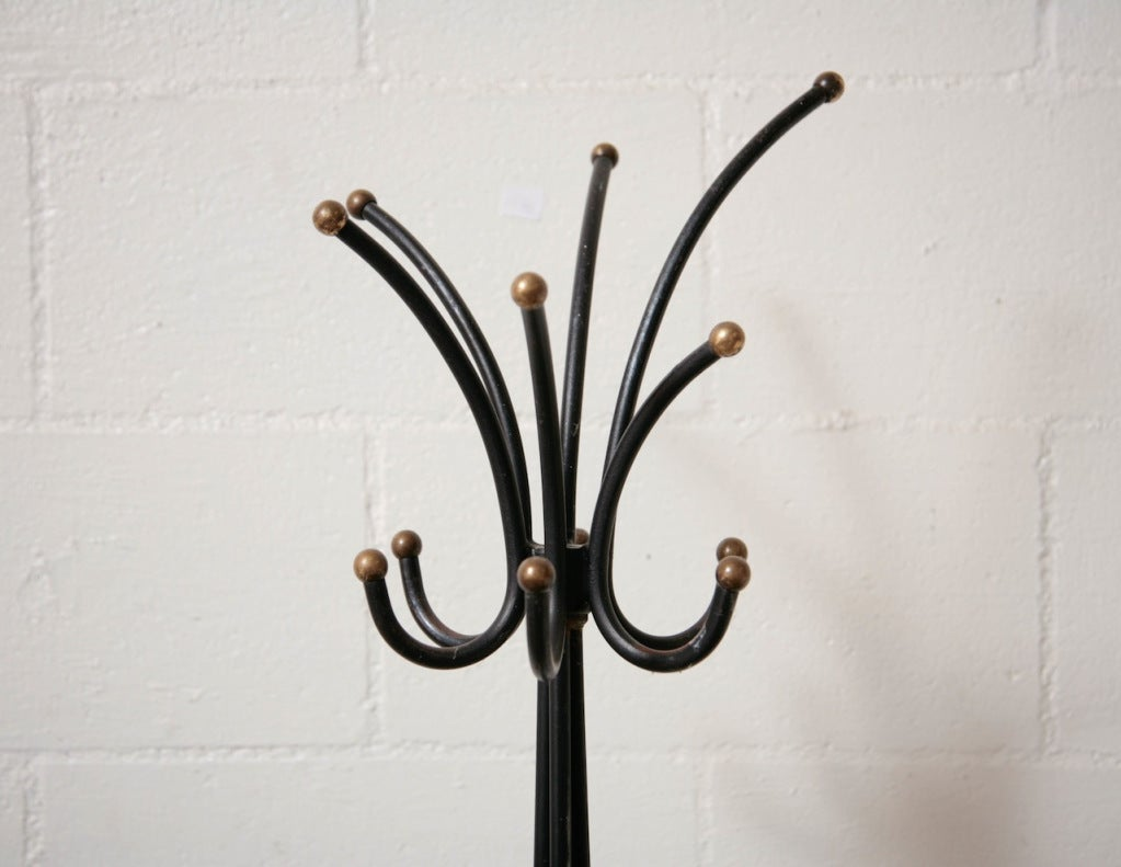 jean royere style standing coat rack at stdibs - jean royere style standing coat rack