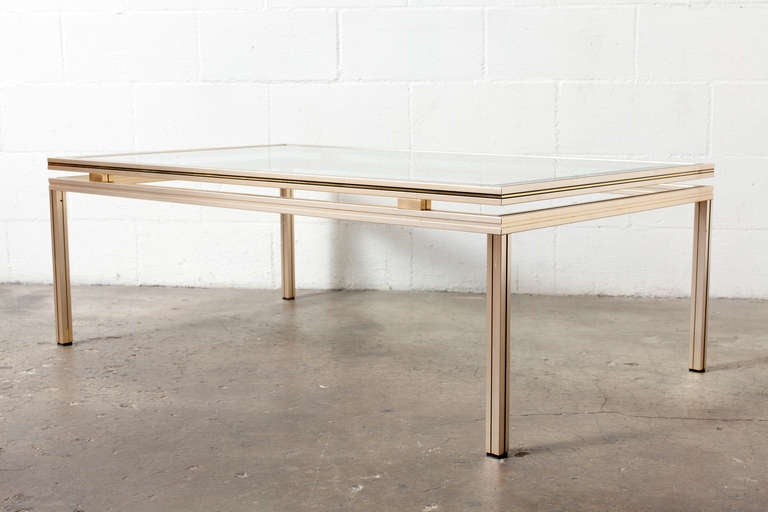 Pierre vandel glass coffee table at 1stdibs for 13 a table paris