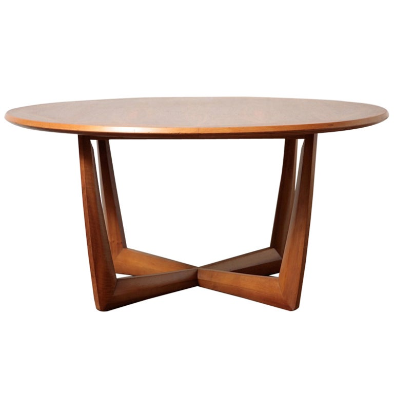 Round Danish Teak Coffee Table at 1stdibs
