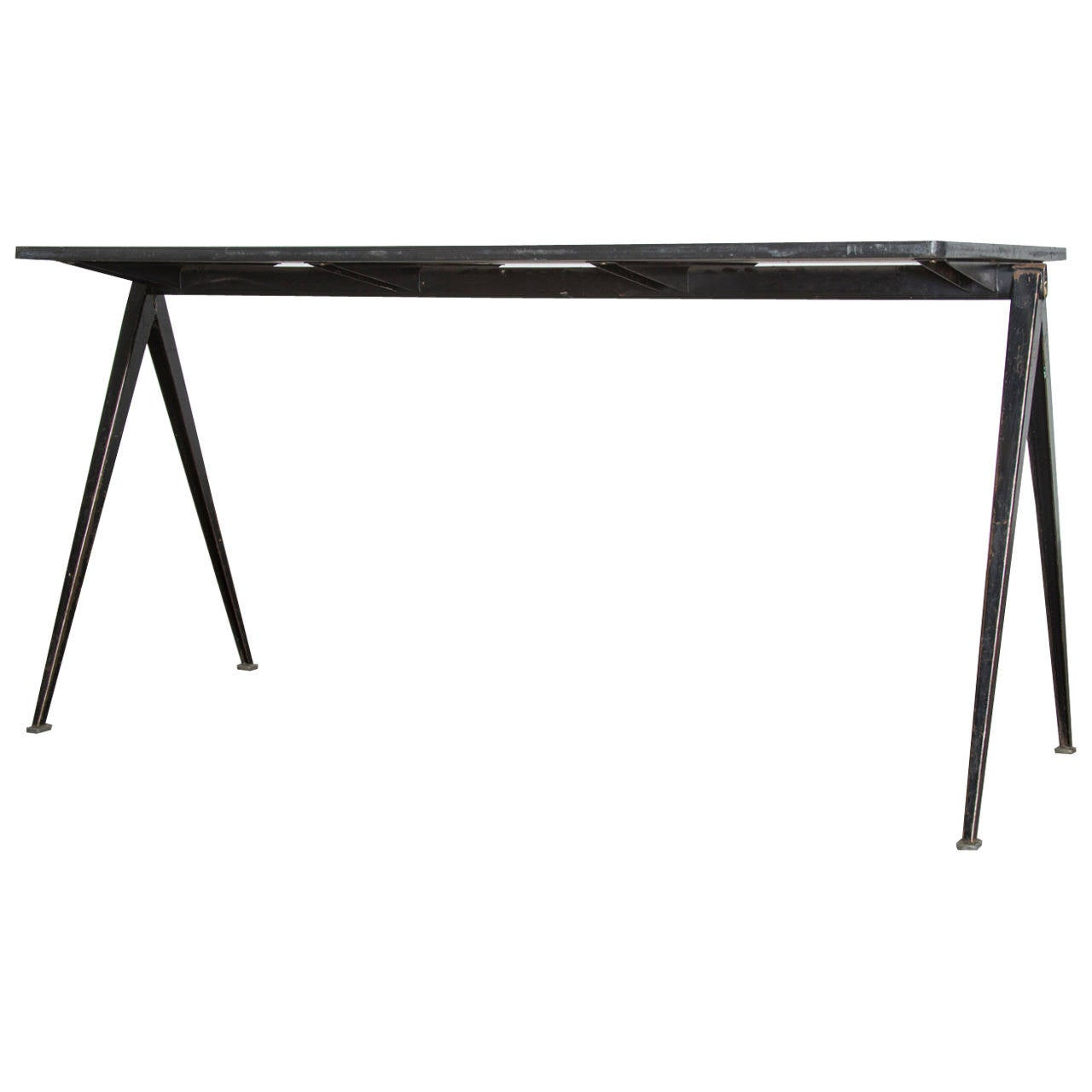 """1964 Rare Friso Kramer Coffee Table For Ahrend De Cirkel: Wm. Rietveld """"Pyramid"""" Table For Ahrend De Cirkel At 1stdibs"""