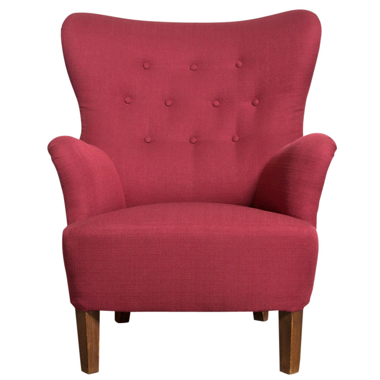 Theo Ruth for Artifort High Back Lounge Chair at 1stdibs