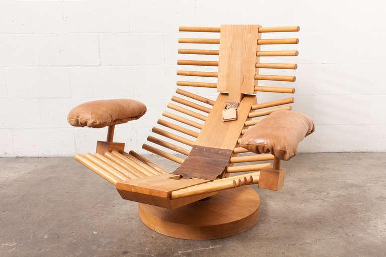 Gerard Van Den Berg Attributed To Fishbone Lounge Chair