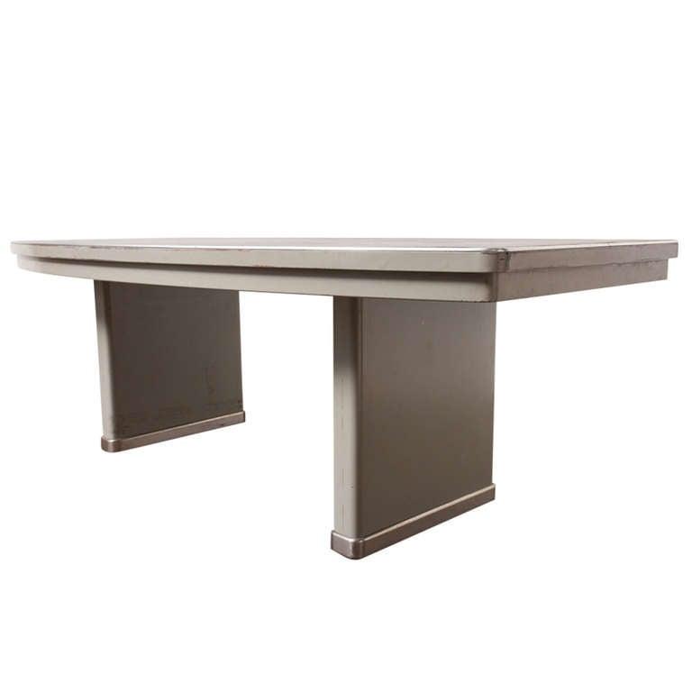 gispen grand conference table with linoleum top at 1stdibs. Black Bedroom Furniture Sets. Home Design Ideas