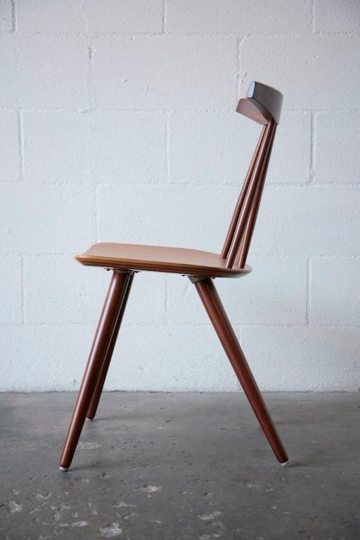 Set Of 6 Frem Rojle Spindle Back Dining Chairs At 1stdibs
