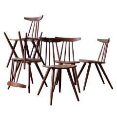Set of 6 Frem Rojle Spindle Back Dining Chairs