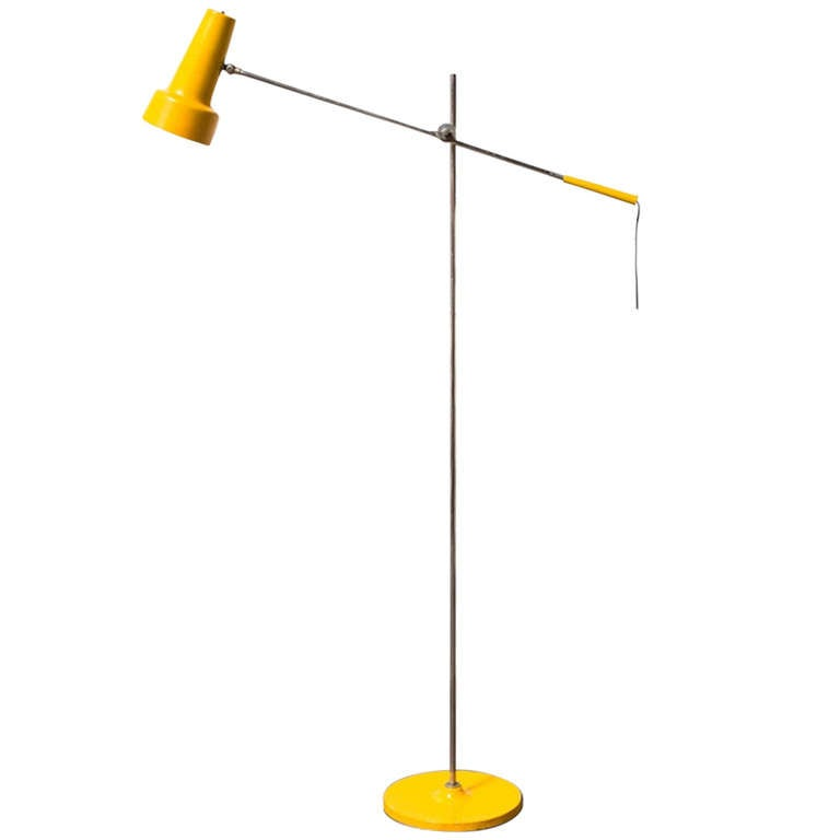 Dutch design floor lamp in sunshine yellow at 1stdibs for Macey floor lamp yellow
