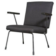 Wim Rietveld 1401 Lounge Chair for Gispen in Black
