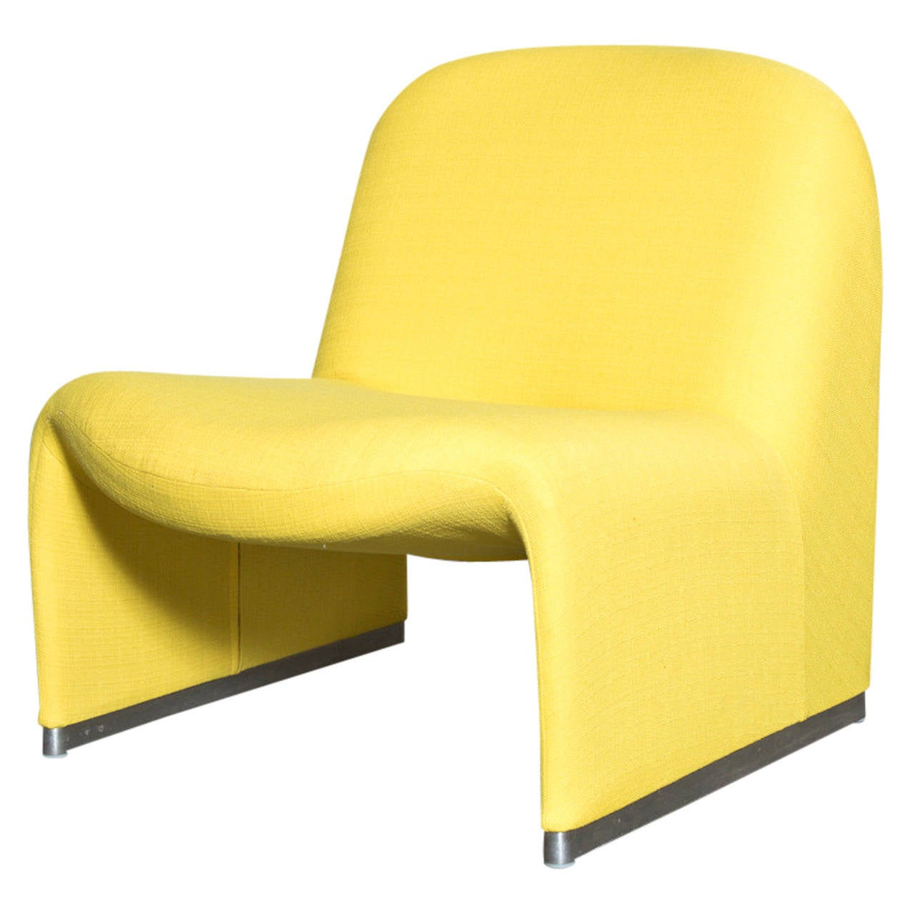 Piretti Alky Lounge Chair by Castelli in Yellow at 1stdibs