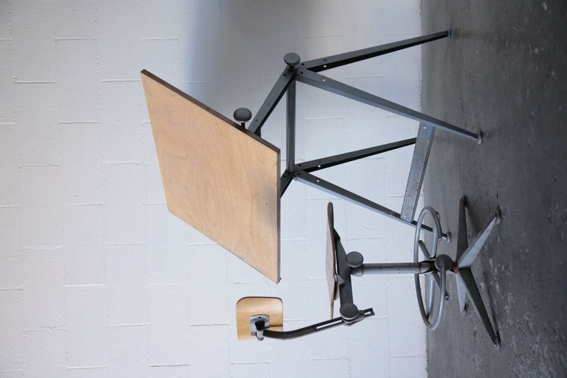 "Wm. Rietveld + Friso Kramer ""REPLY"" Drafting Table 2"