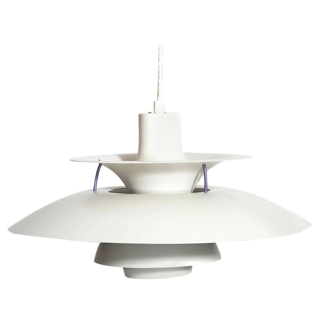 Louis Poulsen White Ph5 Pendant Light By Poul Henningsen