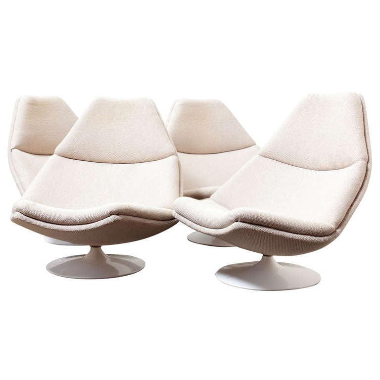 Geoffrey Harcourt For Artifort Swivel Lounge Chair At 1stdibs