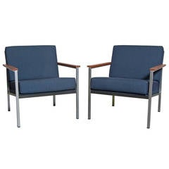 Pair of Coen de Vries Style Lounge Chairs
