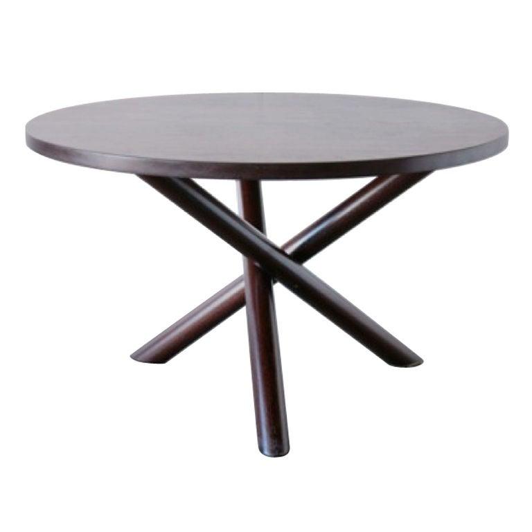 Hans bellman style round wenge dining table at 1stdibs - Table wenge verre ...