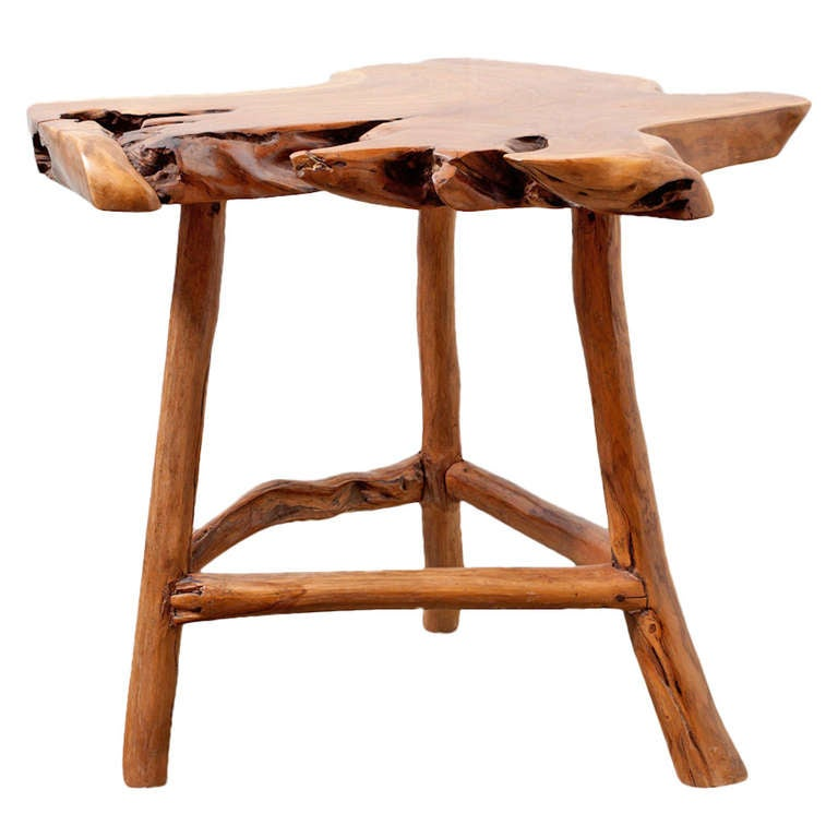 Tree Side Table ~ George nakashima style tree trunk side table at stdibs
