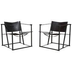 Pair of FM60 Cube Lounge Chairs by Radboud Van Beekum