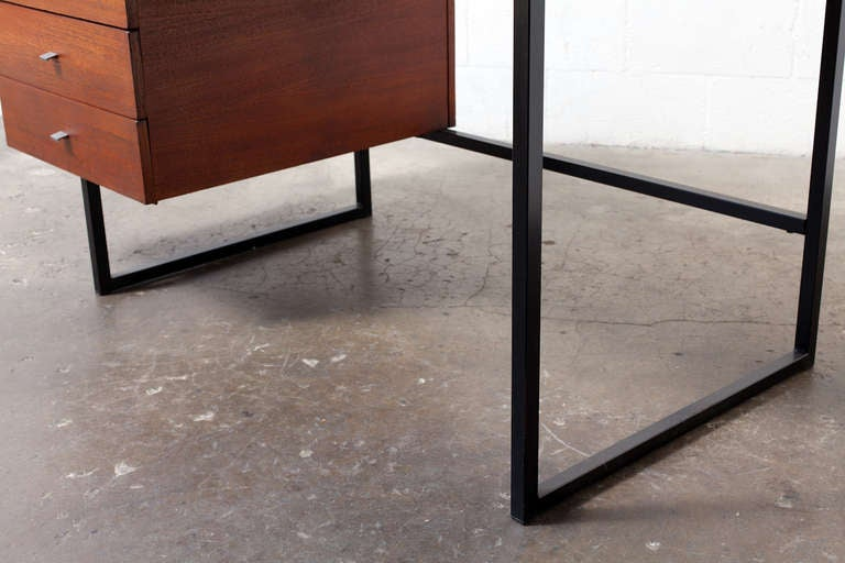 dutch modern writing desk with side stacking drawers at 1stdibs