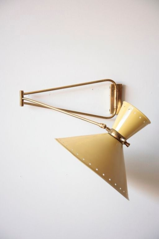 Pierre Guariche 1950 s French Wall Lamp at 1stdibs