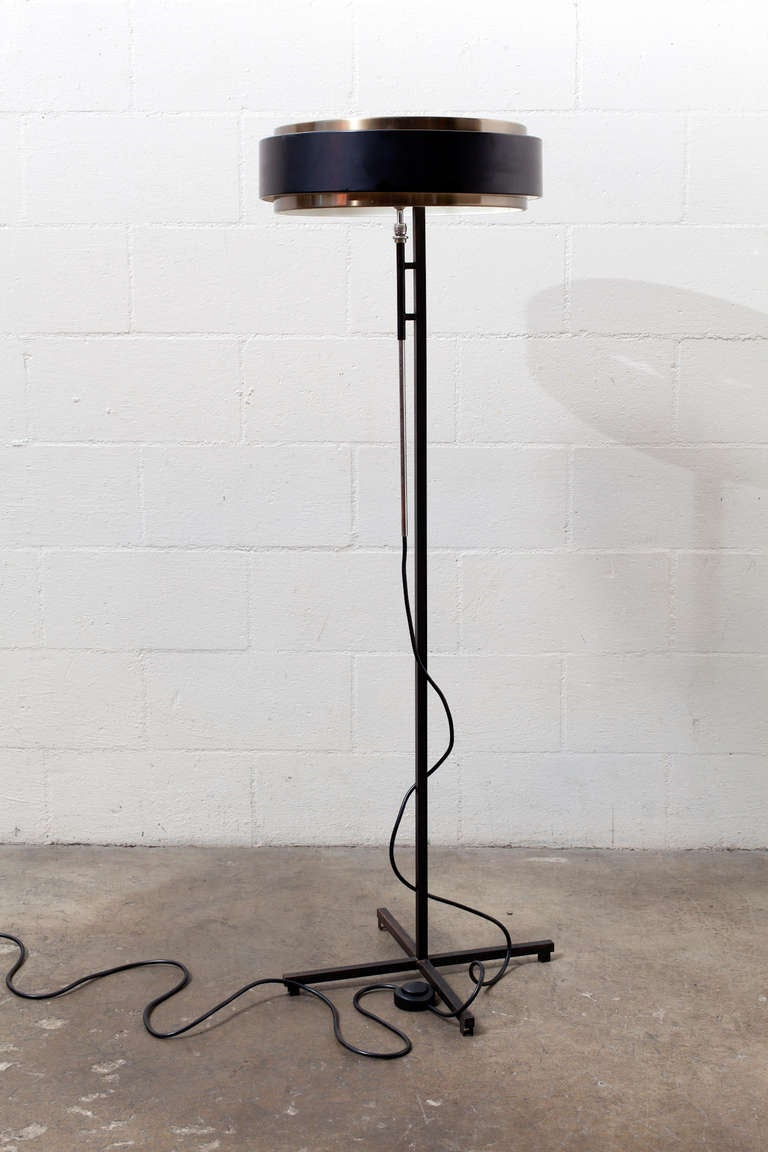 Hiemstra Black And Copper Floor Lamp At 1stdibs