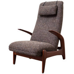Scandinavian Lounge Chair with Penguin Style Armrests