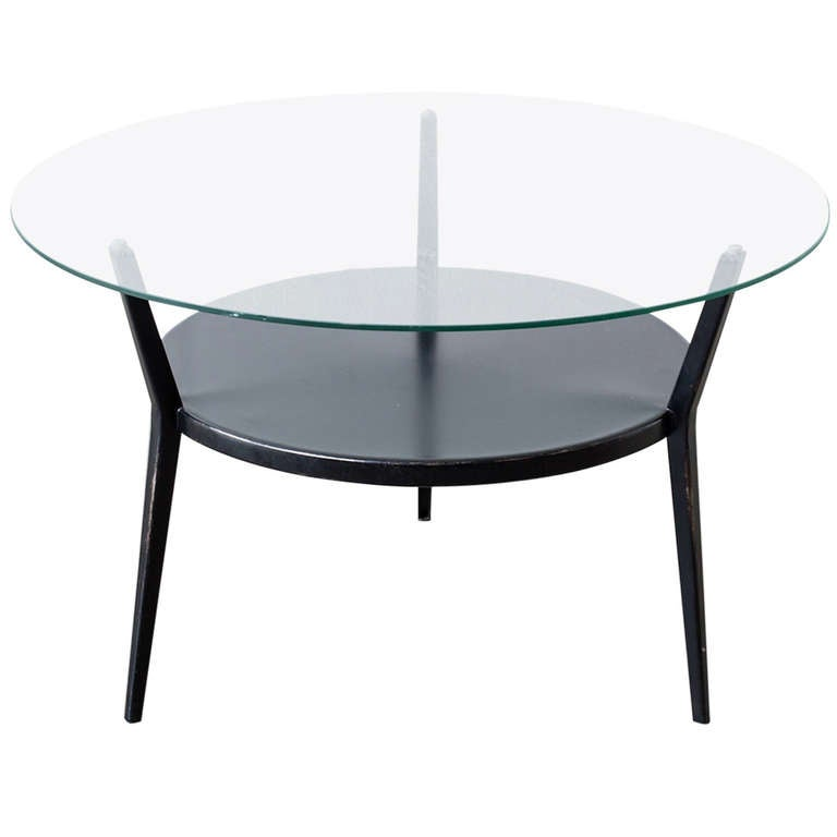 "1964 Rare Friso Kramer Coffee Table For Ahrend De Cirkel: Friso Kramer ""Rotunda"" Round Coffee Table At 1stdibs"