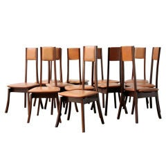 """Angelo Mangiarotti """"S11"""" Set of 12 Dining Chairs"""