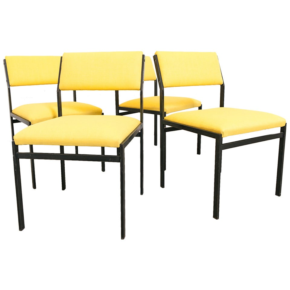 Cees Braakman Set of 4 Japanese Series Dining Chairs For Sale