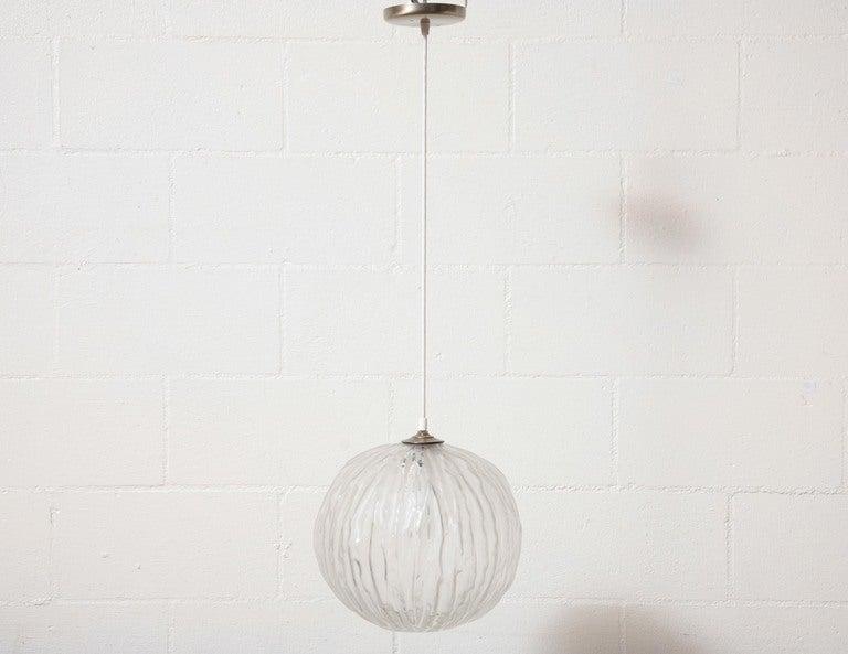murano glass globe pendant lamp 2 - Globe Pendant Light