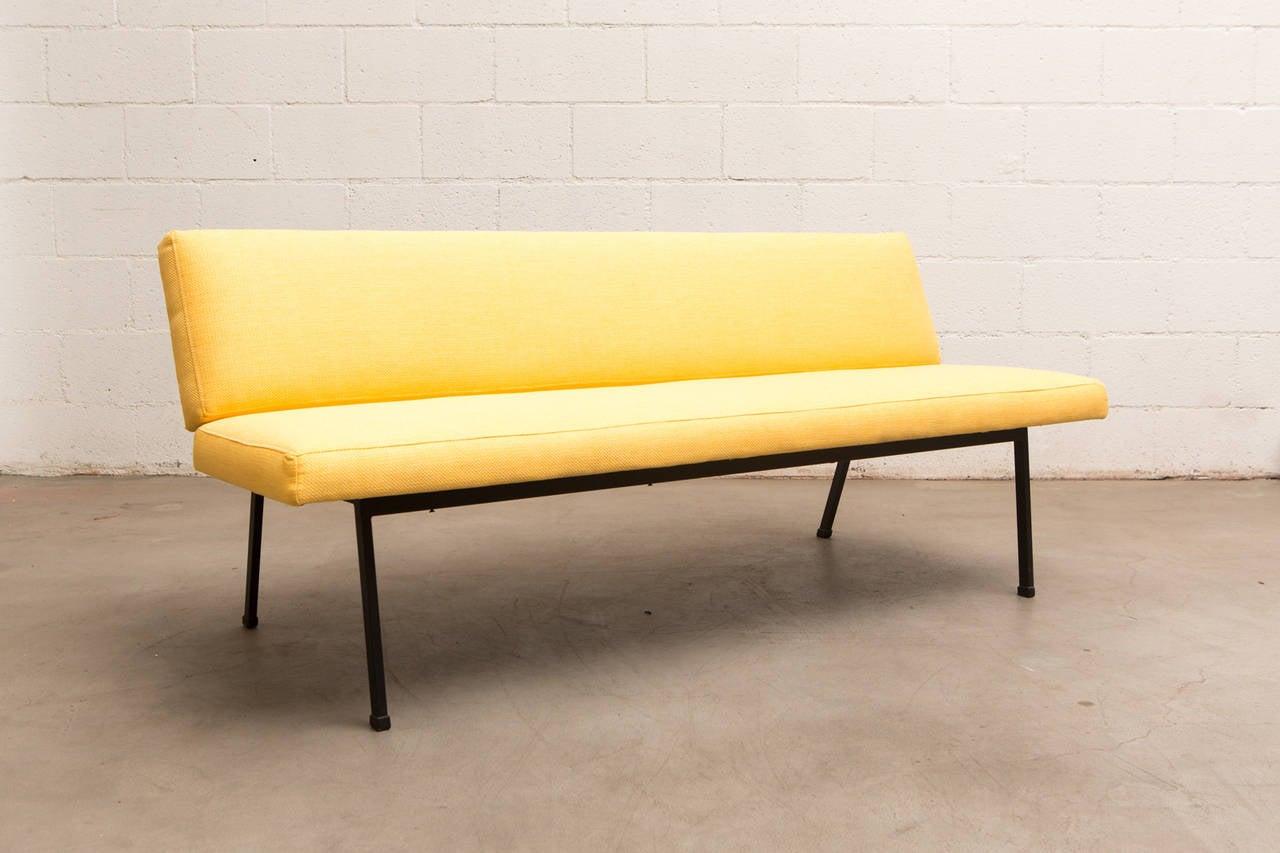 mid century sofa in the style of gijs van der sluis or coen de vries at 1stdibs. Black Bedroom Furniture Sets. Home Design Ideas