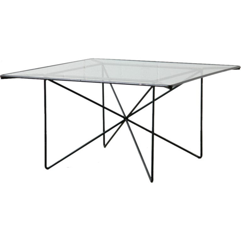 Architectural black wire framed side or coffee table at for Architectural coffee table