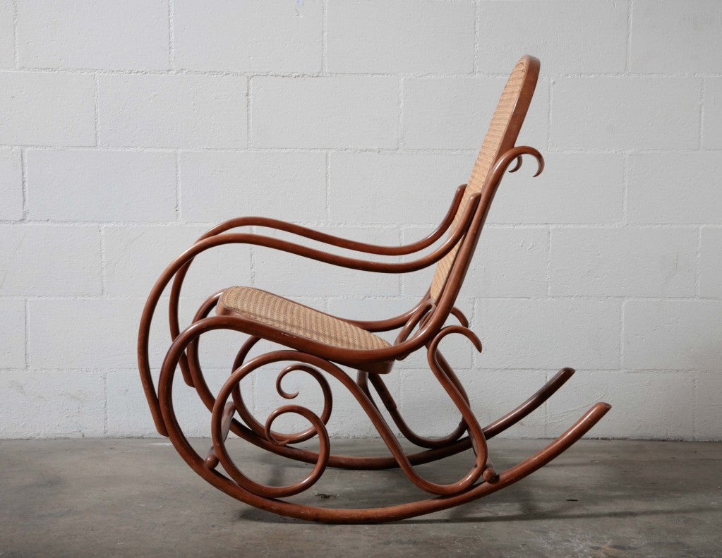 Original white painted bentwood rocking chair is no longer available - Thonet Bent Wood Rocking Chair 2