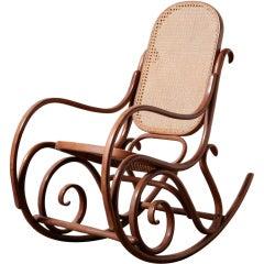 Thonet Bent Wood Rocking Chair