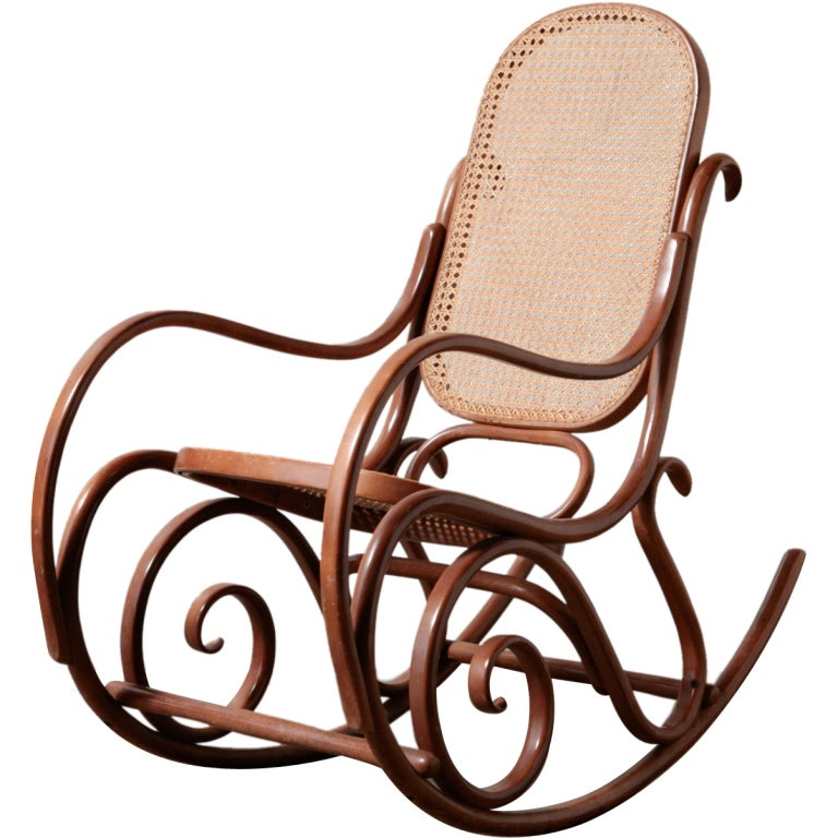 Thonet Bent Wood Rocking Chair At 1stdibs