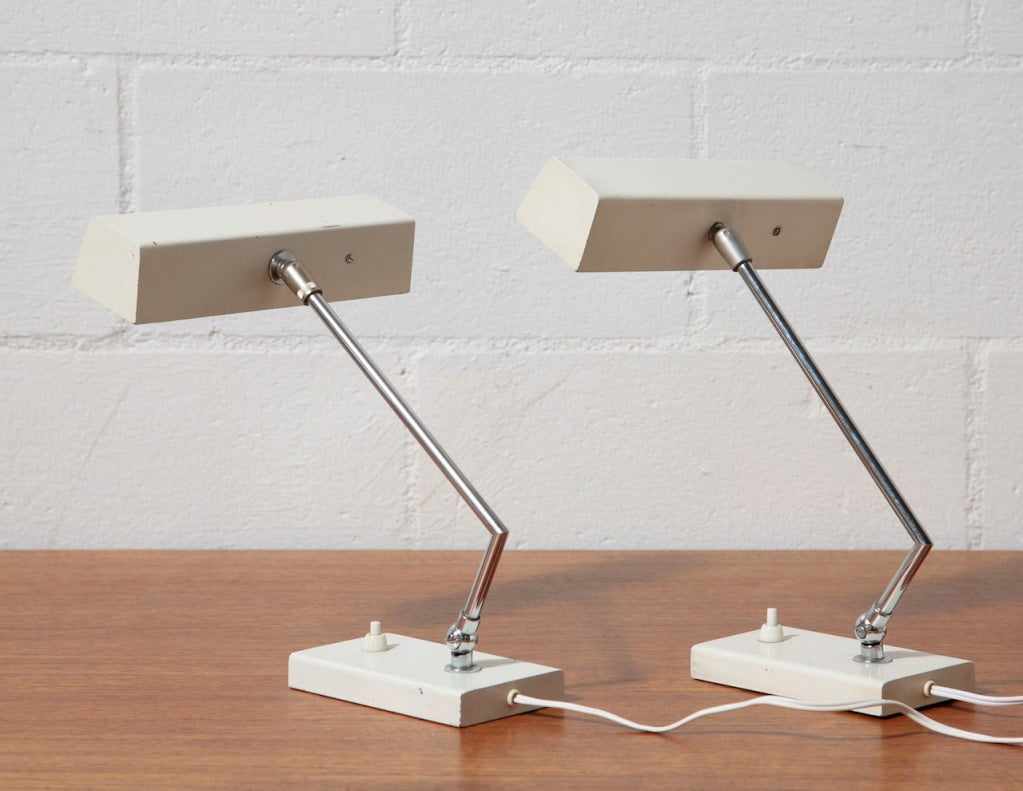Executive Desk Lamp : Mid century executive desk lamp at stdibs