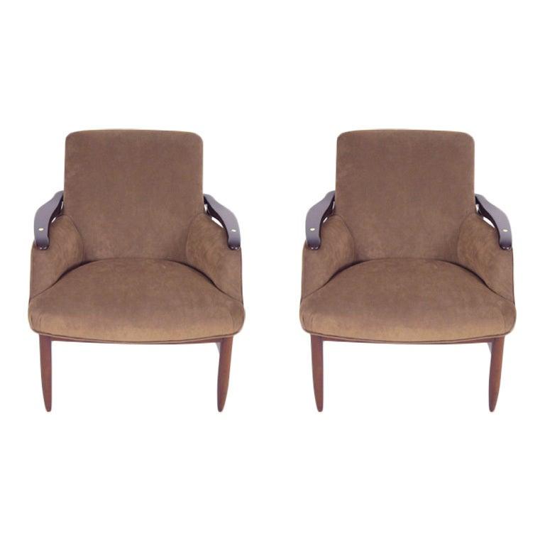 Pair Scandinavian Arm Chairs At 1stdibs