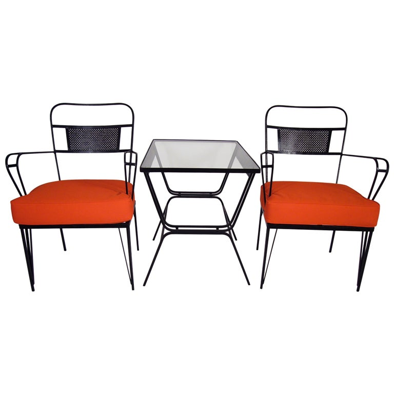 three piece patio set at 1stdibs