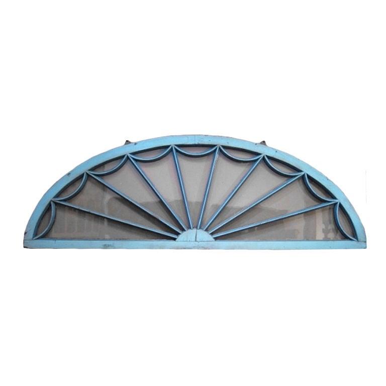 Half Round Window In Blue Paint At 1stdibs