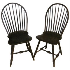 Pair of Windsor Bow-Back Chairs