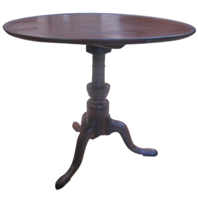 Chippendale Tilt Top Tea Table At 1stdibs