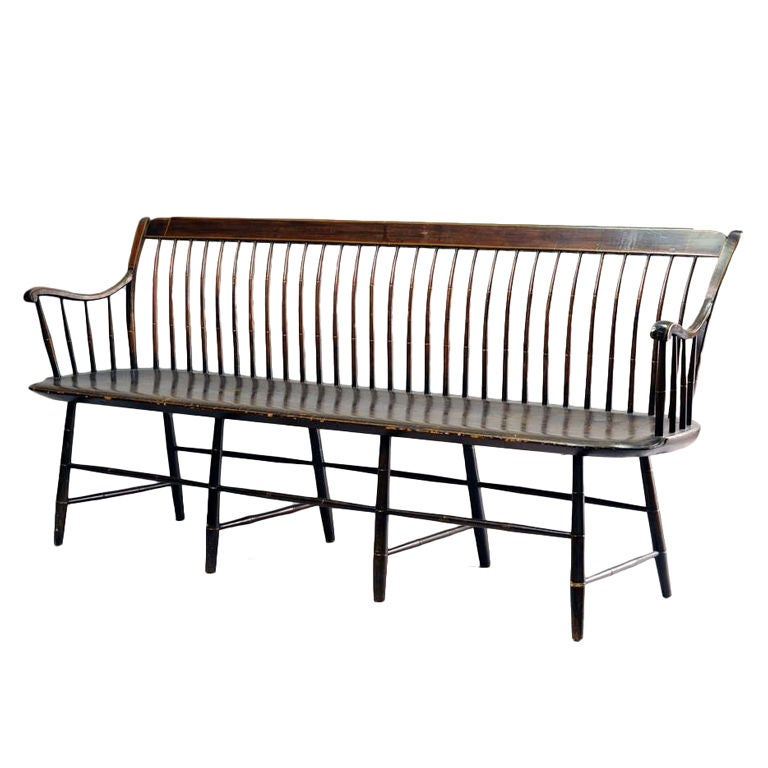 Windsor Bench Settee At 1stdibs