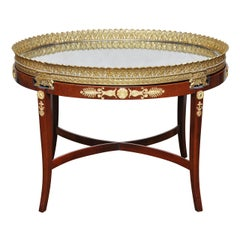 Empire Gilt Bronze Plateau Coffee Table or Occasional Table, France, 1860
