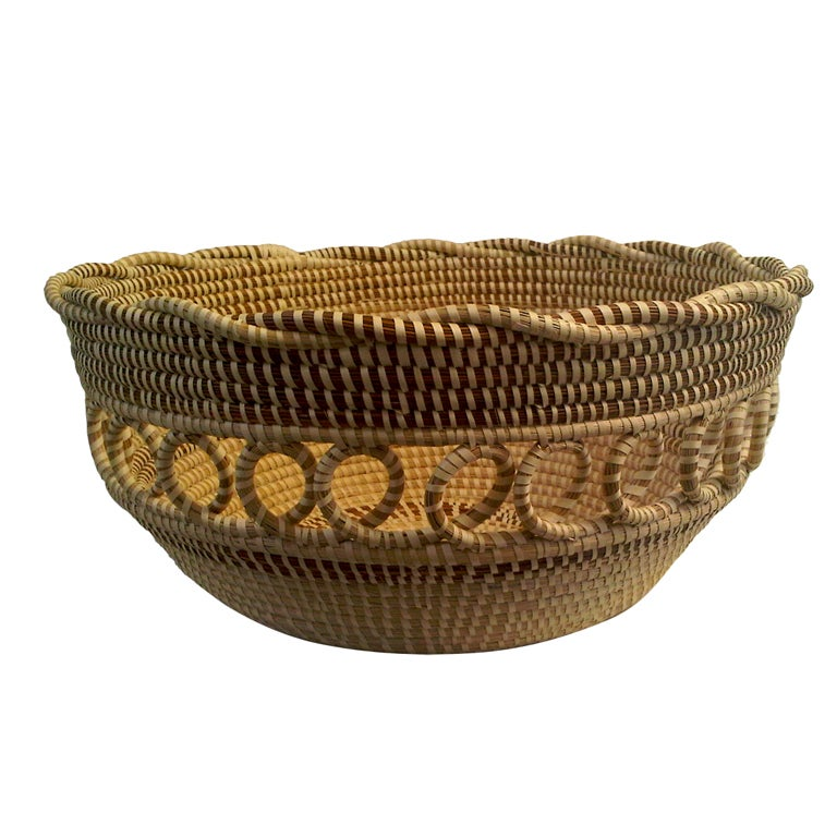 Handmade Baskets In South Carolina : Monumental south carolina sweet grass basket at stdibs