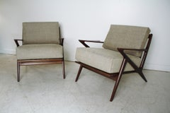 """Pair of Poul Jensen """"Z"""" chairs by Selig"""