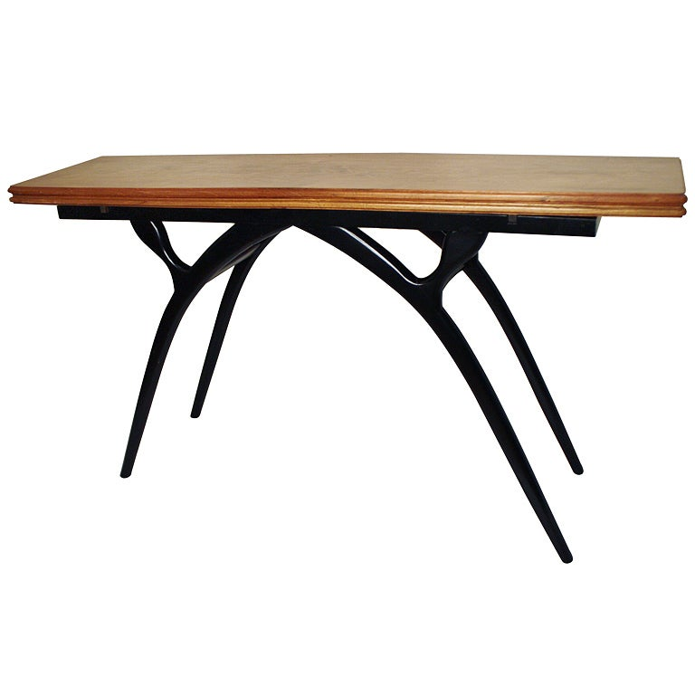 Flip-Top Table with Sculptural Legs 1